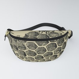 Vintage Bee & Honeycomb Fanny Pack
