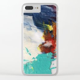 Abstract One by Nancy Smith Clear iPhone Case