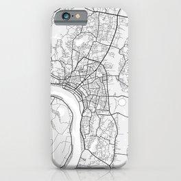 Vientiane City Map of Laos - Light iPhone Case