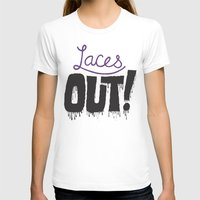 patriots T-shirts featuring Laces out! by Chris Piascik