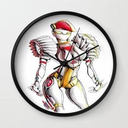ROBOT WOMAN 1 Wall Clock