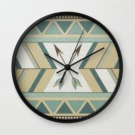 Aztec Pattern Arrows Wall Clock