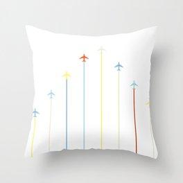 Retro Airplanes Throw Pillow