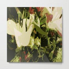 Floreal (green) Metal Print