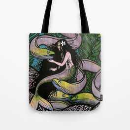 Mermaid and Seven Eels Tote Bag