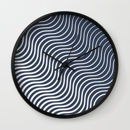 Whiskers Navy #583 Wall Clock