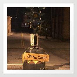 Windows On Main Street 2015 - I Am So Cold Dummy Light Art Print