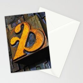 and… oldskool letterpress ampersand type Stationery Cards