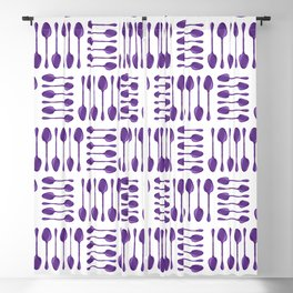 Purple Spoons Pattern Blackout Curtain