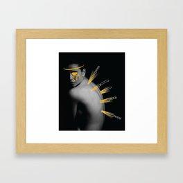Back Scratch Framed Art Print