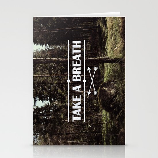 Take a breath Stationery Cards