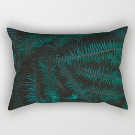 Blue Fern Twilight Rectangular Pillow