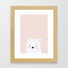 Polar Bear Pink Framed Art Print
