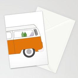 Orange Campervan Stationery Cards
