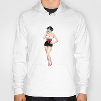 pinup Hoodies featuring PinUp by AnishaCreations