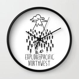 EXPLR PNW Wall Clock