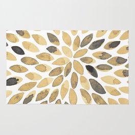 Watercolor brush strokes - neutral Rug