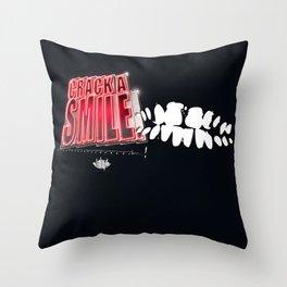 Crack A Smile Throw Pillow