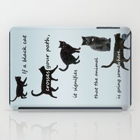 marx iPad Cases featuring Black cat crossing, v.2 by IvanaW