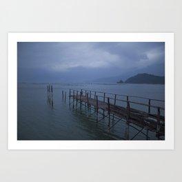 Rainy Day, Da Nang Bay Art Print