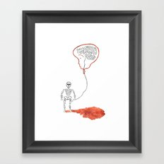 A Slow Unravel Framed Art Print