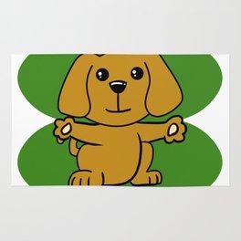 Dog On Four Leaf Clover- St. Patricks Day Funny Rug