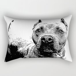 Pitbull Dog Rectangular Pillow