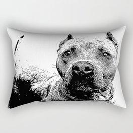 Pitbull Dog Rectangular Pillow