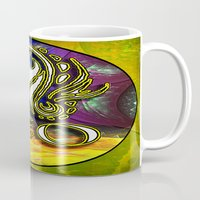 astrology Mugs featuring Leo Zodiac Sign Astrology by CAP Artwork & Design