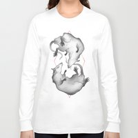 rat Long Sleeve T-shirts featuring Rat King by Henri Scribner
