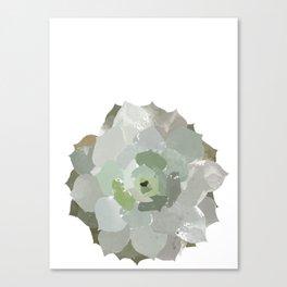 Watercolor Succulent Canvas Print