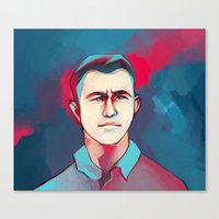 jon contino Canvas Prints featuring DON JON by tidlin