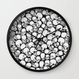 Gothic Crowd B&W Wall Clock