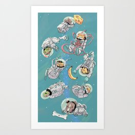 Space Animals Art Print