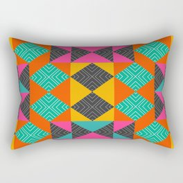 Bright multicolored shapes Rectangular Pillow