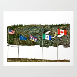 Flags of the Yukon Art Print
