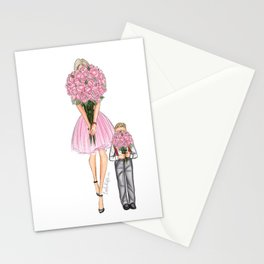 Mother's day little boy blonde Stationery Cards