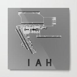 IAH Airport Diagram Metal Print