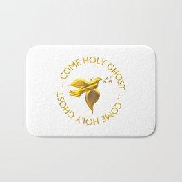Golden 3-D Look Come Holy Ghost Holy Spirit Bath Mat