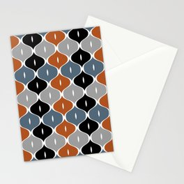 Colorful abstract eyelets pattern Stationery Cards
