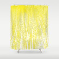 woodland Shower Curtains featuring woodland by  Agostino Lo Coco