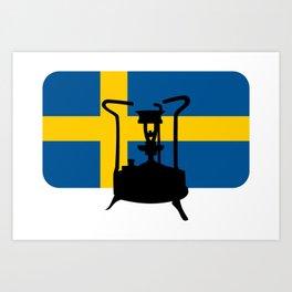 Sweden flag | Pressure stove Art Print