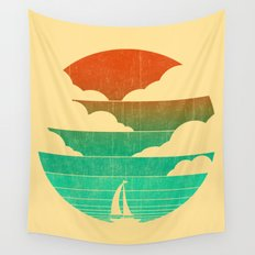 Go West (sail away in my boat) Wall Tapestry