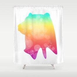 Neonimals: Bear Shower Curtain