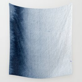 Indigo Vertical Blur Abstract Wall Tapestry