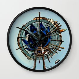Little Planet of Venice Wall Clock
