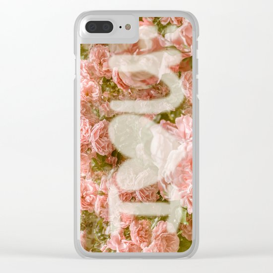 VALENTINE'S DAY ROSES Clear iPhone Case