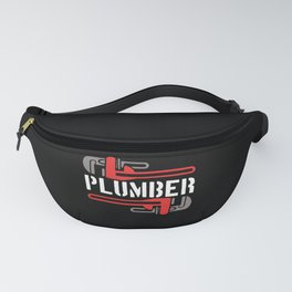 Plumber Pipelayer Plumbing Pipe Wrench Fanny Pack