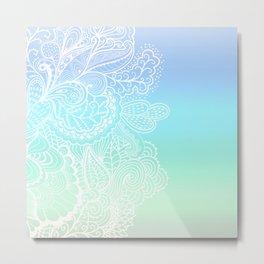 Pastel Paislies Metal Print