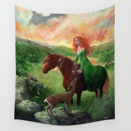 Aine, Queen of the Faeries Wall Tapestry